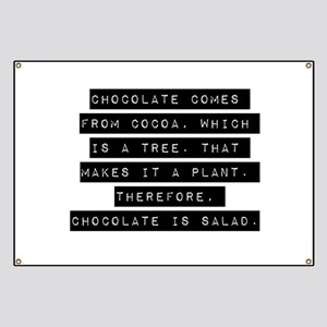 Chocolate Comes From Cocoa Banner