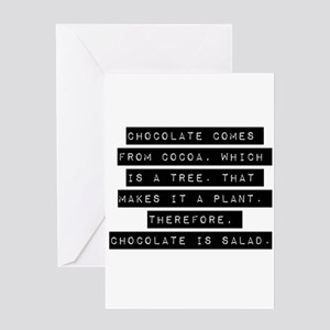 Chocolate greeting cards cafepress chocolate comes from cocoa greeting cards m4hsunfo