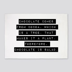 Chocolate Comes From Cocoa 5'x7'Area Rug