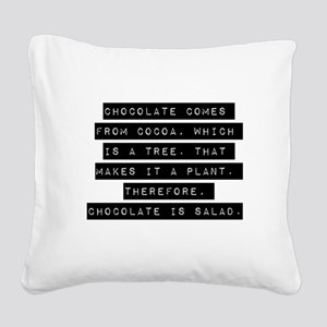 Chocolate Comes From Cocoa Square Canvas Pillow