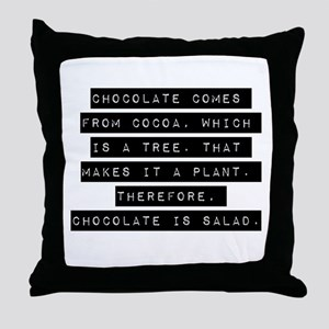 Chocolate Comes From Cocoa Throw Pillow