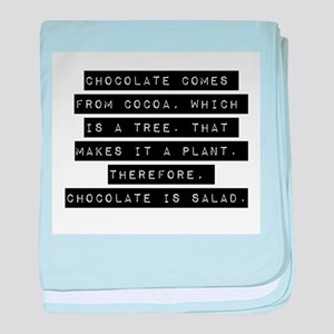 Chocolate Comes From Cocoa baby blanket