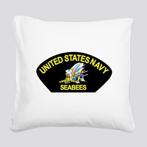 SEABEES_CAN_DO Square Canvas Pillow