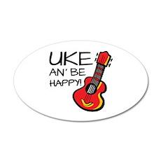 Uke an' be happy! Wall Sticker
