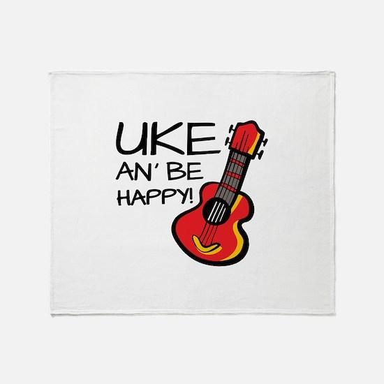 Uke an' be happy! Throw Blanket