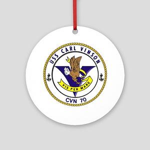 Uss Carl Vinson Cvn-70 Ornament (round)