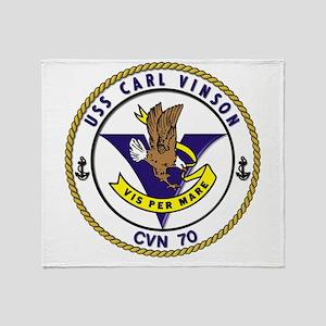 Uss Carl Vinson Cvn-70 Throw Blanket