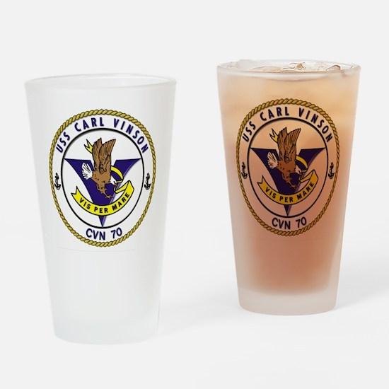 USS Carl Vinson CVN-70 Drinking Glass