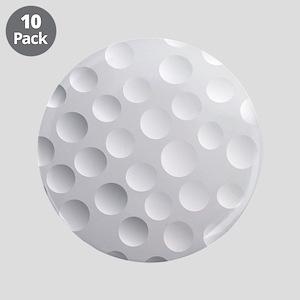 "Cool White Golf Ball Texture, Golfer 3.5"" Button ("