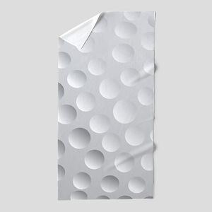 Cool White Golf Ball Texture, Golfer Beach Towel