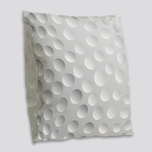 Cool White Golf Ball Texture, Golfer Burlap Throw
