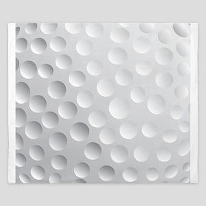 Cool White Golf Ball Texture, Golfer King Duvet