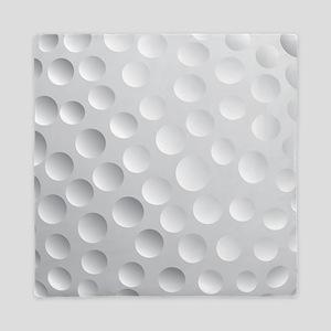 Cool White Golf Ball Texture, Golfer Queen Duvet