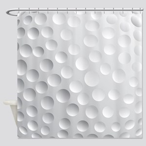 Cool White Golf Ball Texture, Golfer Shower Curtai