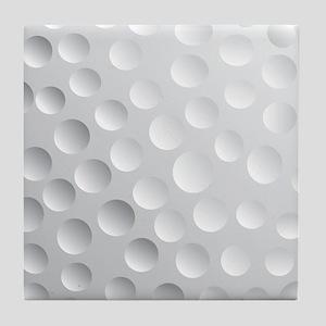 Cool White Golf Ball Texture, Golfer Tile Coaster