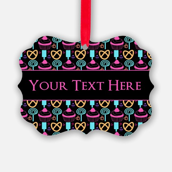 Whimsical Cupcake Personalized Ornament