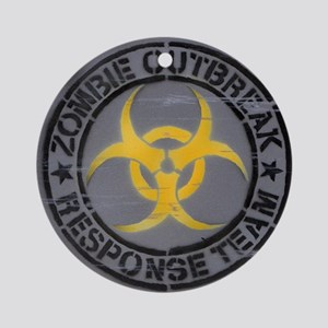Zombie Outbreak Response Team Round Ornament