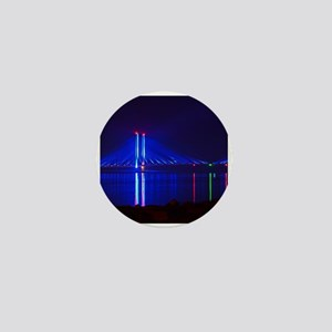 Indian River Bridge at Night Mini Button