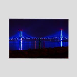 Indian River Bridge at Night Magnets
