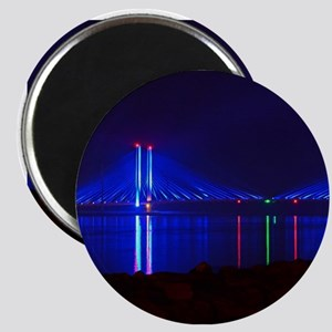 Indian River Bridge at Night Magnets