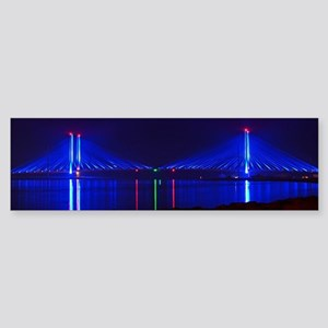 Indian River Bridge at Night Bumper Sticker