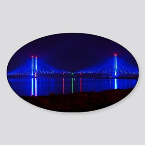 Indian River Bridge at Night Sticker