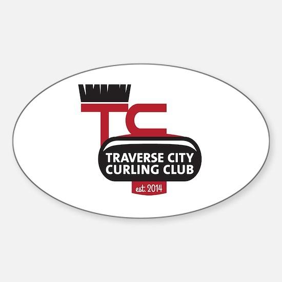 Traverse City Curling Club logo Sticker (Oval)