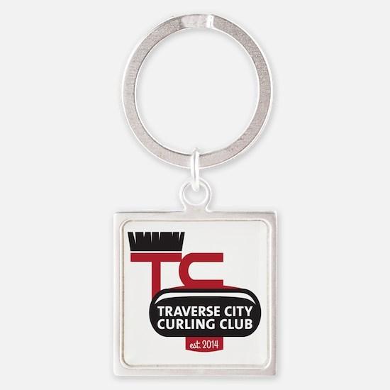 Traverse City Curling Club logo Square Keychain