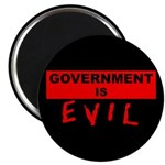 """Government is Evil 2.25"""" Magnet (100 pack)"""