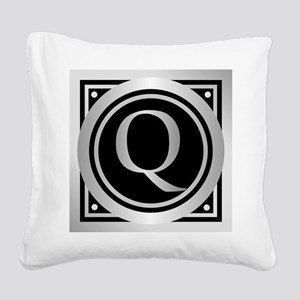Deco Monogram Q Square Canvas Pillow