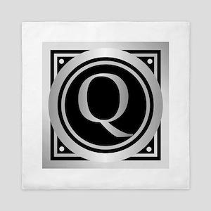 Deco Monogram Q Queen Duvet