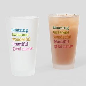 Great Nana - Amazing Awesome Drinking Glass