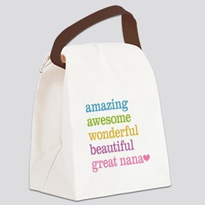Great Nana - Amazing Awesome Canvas Lunch Bag