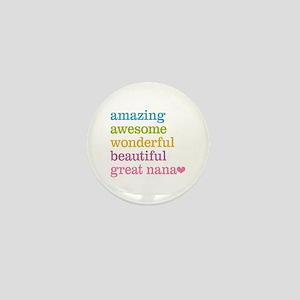 Great Nana - Amazing Awesome Mini Button