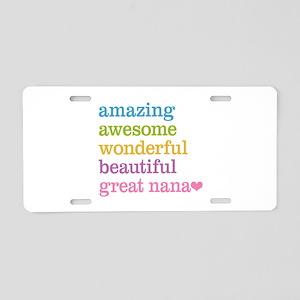 Great Nana - Amazing Awesom Aluminum License Plate