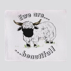 Ewe are beautiful! Throw Blanket