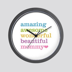 Mommy - Amazing Awesome Wall Clock