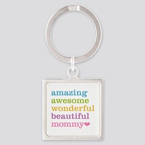 Mommy - Amazing Awesome Square Keychain