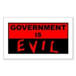 Government is Evil Rectangle Sticker