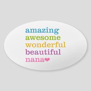 Nana - Amazing Awesome Sticker (Oval)