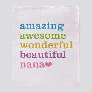 Nana - Amazing Awesome Throw Blanket