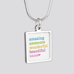 Nana - Amazing Awesome Silver Square Necklace