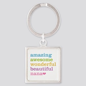 Nana - Amazing Awesome Square Keychain