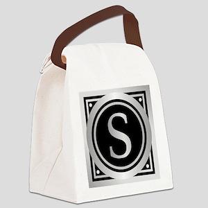 Deco Monogram S Canvas Lunch Bag