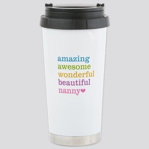 Nanny - Amazing Awesome Stainless Steel Travel Mug