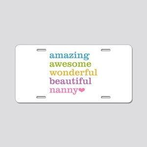 Nanny - Amazing Awesome Aluminum License Plate