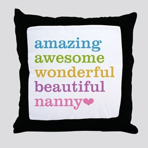 Nanny - Amazing Awesome Throw Pillow