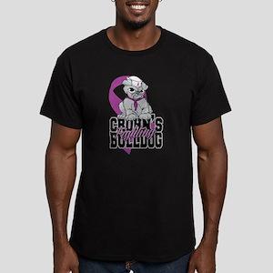 Crohns Fighting Bulldo Men's Fitted T-Shirt (dark)