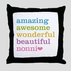 Nonni - Amazing Awesome Throw Pillow