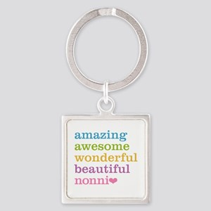 Nonni - Amazing Awesome Square Keychain